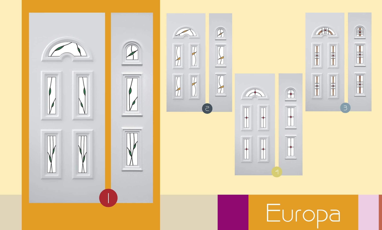 Inoutic Europa műanyag bejárati ajtó