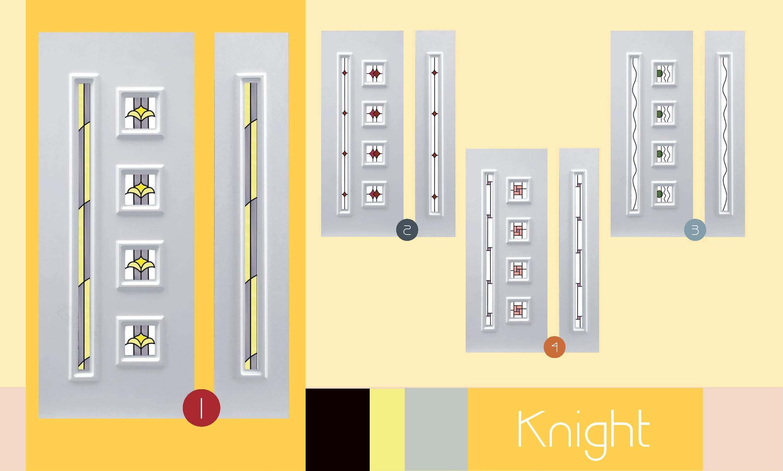 Inoutic Knight műanyag bejárati ajtó