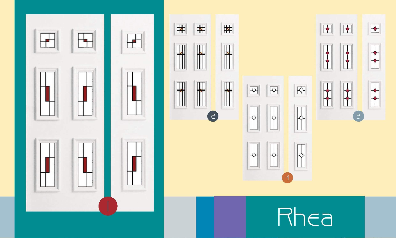 Inoutic Rhea műanyag bejárati ajtó