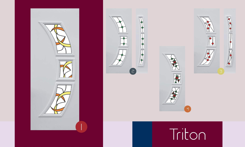 Inoutic Triton műanyag bejárati ajtó