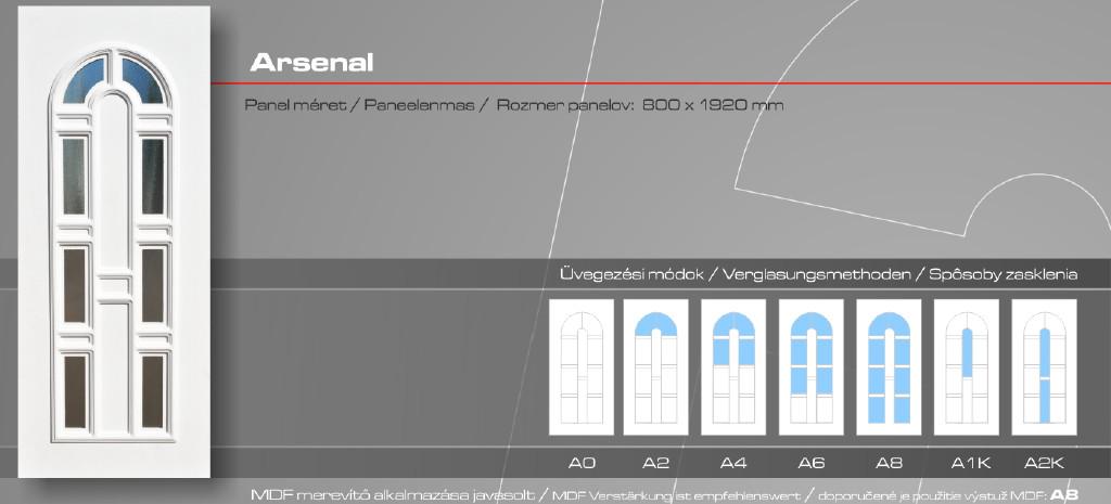 Kömmerling Arsenal műanyag bejárati ajtó