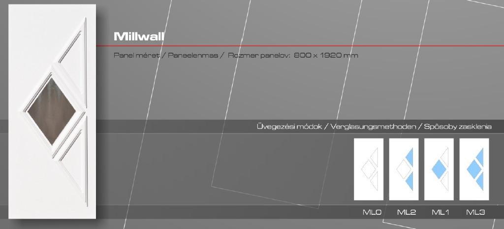 Kömmerling Millwall műanyag bejárati ajtó